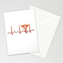 Nurse Practitioner Heartbeat Stationery Cards