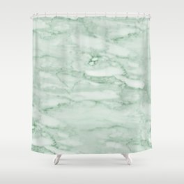 Light Jade Marble Shower Curtain