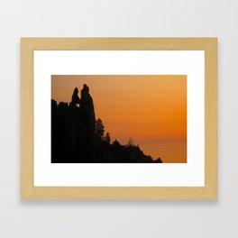Corsican Sunset Framed Art Print
