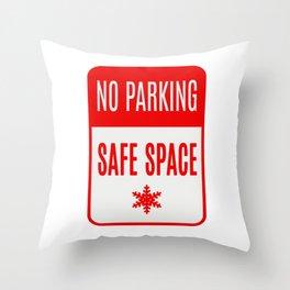 no parking safe space Throw Pillow