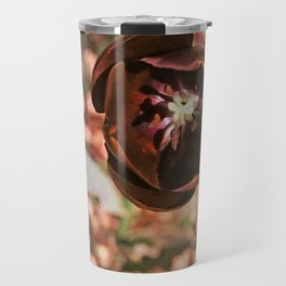 Marsala Tulip Flower Travel Mug