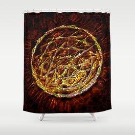 black sun Shower Curtain