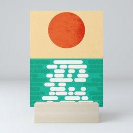 Sun over the sea Mini Art Print