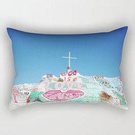Salvation Mountain in the Californian Desert Rectangular Pillow