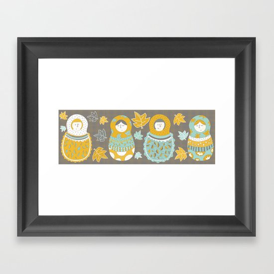 Autumnish mamushkas Framed Art Print