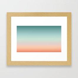 Color gradient background - fading sunset sky colors Framed Art Print