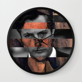"""Modigliani """"Portrait of a Poet"""" & Marcello Mastroianni Wall Clock"""
