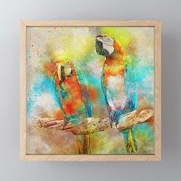 Abstract Parrots Framed Mini Art Print