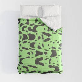 Mint green, flying gray pieces and particles free in the space, relaxing texture design Comforters