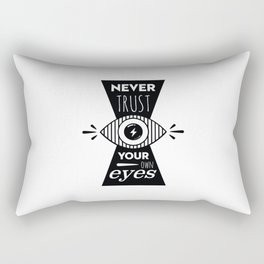 Graphic Poster - Never Trust your own eyes - Quatreplusquatre revisits Obey® Rectangular Pillow