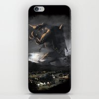 kaiju iPhone & iPod Skins featuring El Kaiju by SkullsNThings