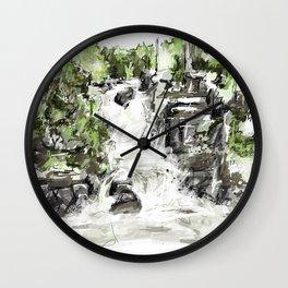 Abstract falls Wall Clock