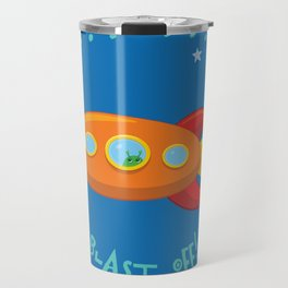 3, 2, 1, Blast Off!  Travel Mug