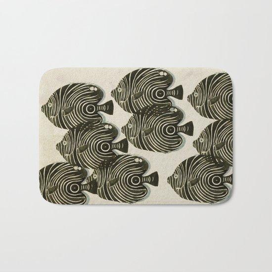 Shoal of Black Fish Bath Mat