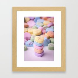I Love You - Candy Hearts Framed Art Print