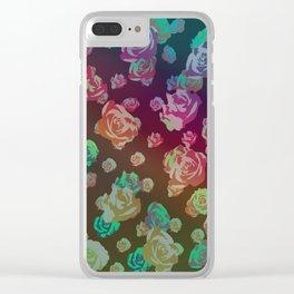 spectrum rainbow roses Clear iPhone Case
