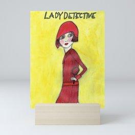 Lady Detective Mini Art Print