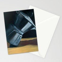 Falling Moka Pot Stationery Cards