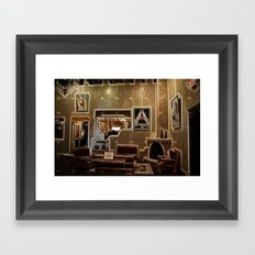Adobe Lobby Framed Art Print