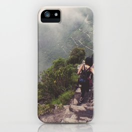 At the top iPhone Case