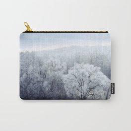 Foggy Winter Landscape with snow covered Trees Carry-All Pouch