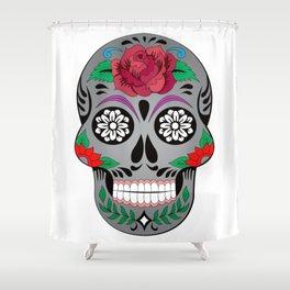 Hypster Skull Shower Curtain