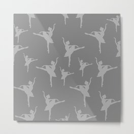 Grey Ballerinas Metal Print