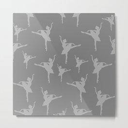 Grey Ballerinas Metal Print