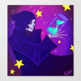 Grim Reaper Space and Time Canvas Print