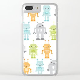 Robots Clear iPhone Case