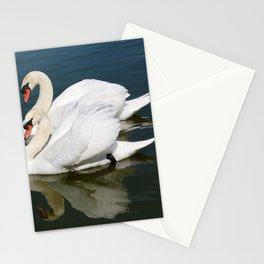 Synchronized Swans Stationery Cards