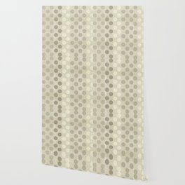 """Nude Burlap Texture and Polka Dots"" Wallpaper"