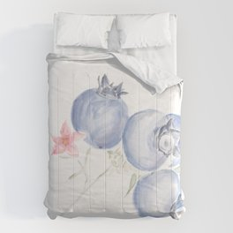 Red White & Blues ・Rustic Blueberries Comforters