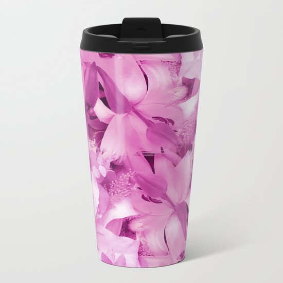 Floral Metal Travel Mug