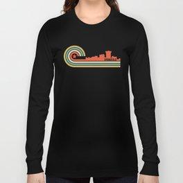 Retro Springfield Missouri Skyline Long Sleeve T-shirt