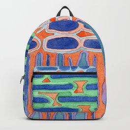 Blue Shapes Pattern Backpack