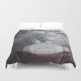 Dark fog forest Duvet Cover