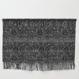 Paper Airplanes Black Wall Hanging