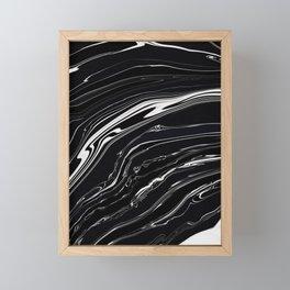 Black Marble Framed Mini Art Print