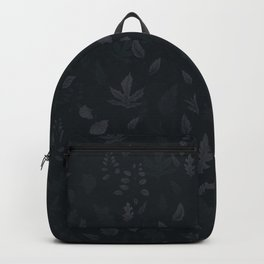 Dark Leaves Pattern Backpack