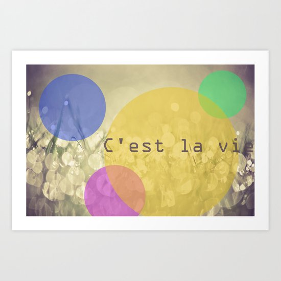 c'est la vie. Art Print