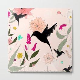 Hummingbirds Paradise Metal Print