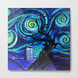 tardis starry night Metal Print