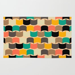 Retro abstract pattern Rug