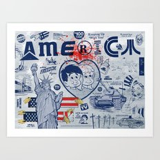 Thanks America / Where Freedom Begins Art Print