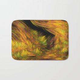 Mystic golden woods  Bath Mat