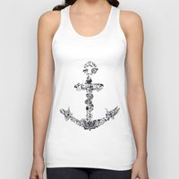 tattoos Tank Tops featuring Larry's Tattoos Anchor by Lissa Félix