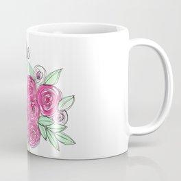 Bride Wedding Pink Roses Watercolor Coffee Mug