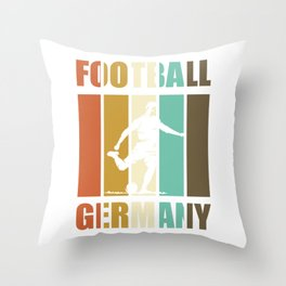 Football Germany - soccer player vintage Throw Pillow