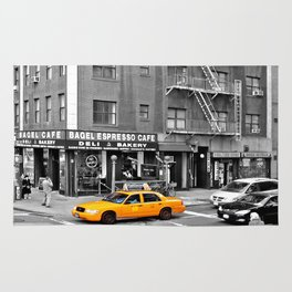 NYC Yellow Cabs Bagel Cafe - USA Rug